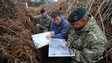 From left: Rifleman Stuart Gray (4Rifles), Richard Osgood (MOD Archaeologist) and Lance Corporal Robert Waters (4Rifles) start making notes in the trenches at the lost practice battlefield at Browndown, Gosport