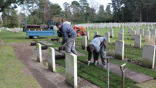 Gardeners at Brookwood Military Cemetery