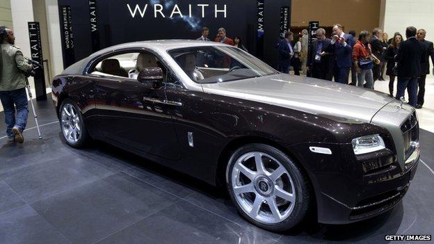 The Rolls-Royce Wraith at the Geneva motor show 2014