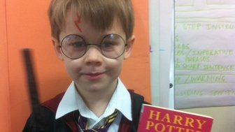 Felix as Harry Potter