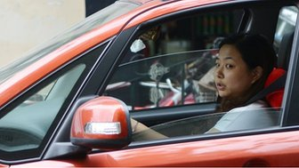 Chinese woman driving