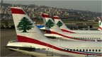 Middle East Airlines passenger planes at Beirut airport (file)
