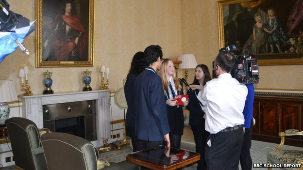 School Reporters at Buckingham Palace