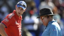 Stuart Broad and umpire Marais Erasmus