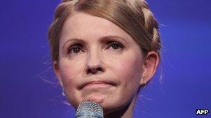 Yulia Tymoshenko, addresses delegates at the Dublin Convention Centre in Dublin, Ireland, on 6 March 2014.