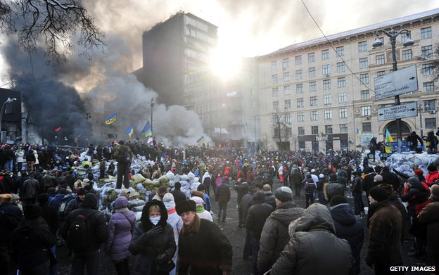 Grushevsky Street in Kiev (Jan 2014 file pic)