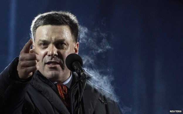 Head of the All-Ukrainian Union Svoboda (Freedom) Party Oleg Tyahnibok
