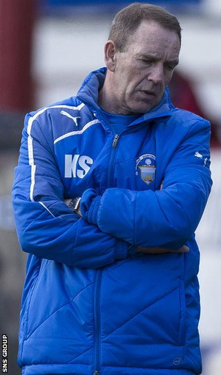 Morton manager Kenny Shiels