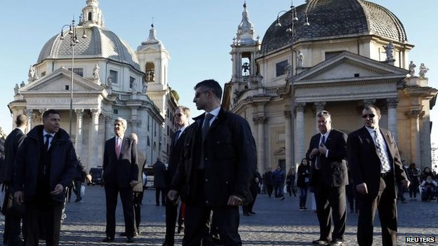 John Kerry in Rome, 6 March