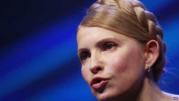 Ukrainian former premier Yulia Tymoshenko in Dublin, 6 March