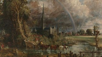 John Constable, Salisbury Catherdral from the Meadows, 1831