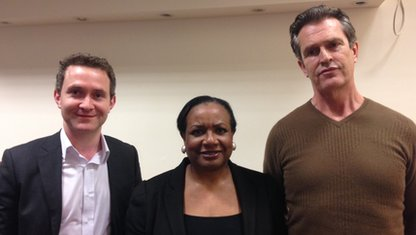 Douglass Murray, Diane Abbott and Rupert Everett