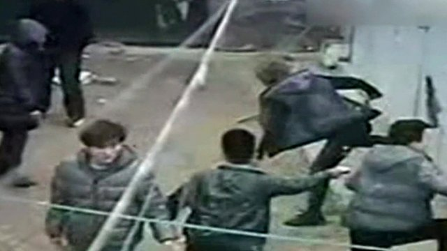 CCTV footage of angry investors who have lost their money