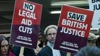 Legal aid cuts protestors