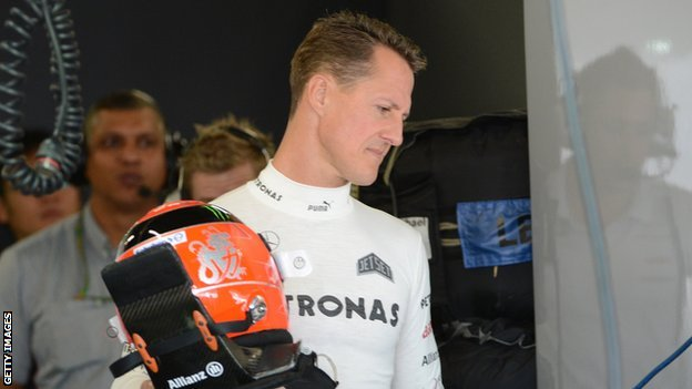 'Encouraging signs' for Schumacher...