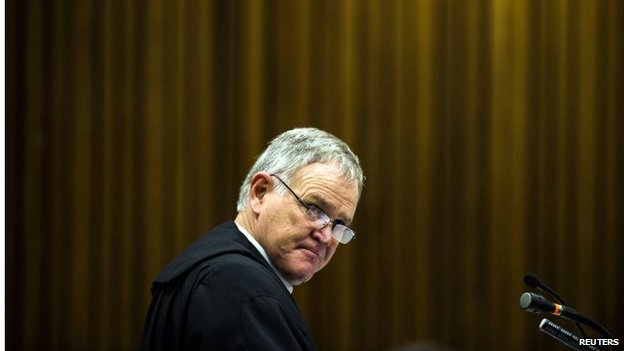 Defence Council Barry Roux in court