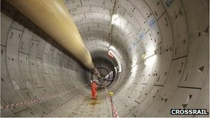 Crossrail unveils its first completed tunnel