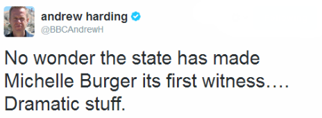 Tweet by the BBC's Andrew Harding