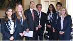 Prince Edward and School Reporters