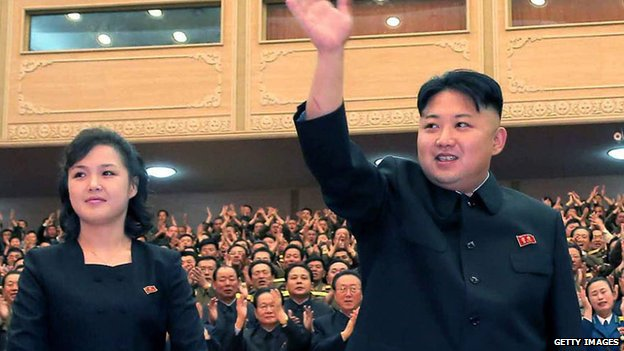 Kim Jong-un and his wife Ri Sol-ju