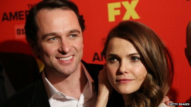 Keri Russell and Matthew Rhys attend premiere of FX drama The Americans in January 2013 in New York