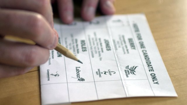Ballot paper for postal vote (file photo)