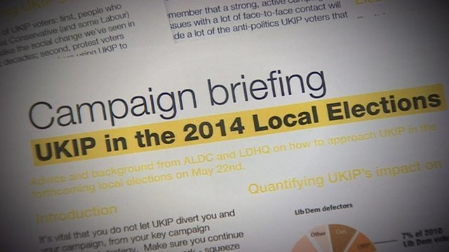 Lib Dem paper on UKIP threat