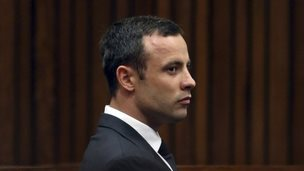 Oscar Pistorius in court on Friday