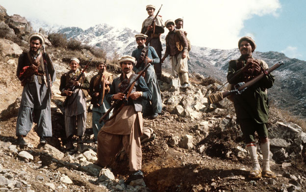 The Soviet forces met resistance from the mujahideen