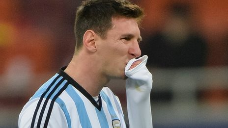 Argentina forward Lionel Messi