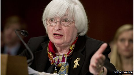 US Federal Reserve chair, Janet Yellen