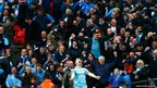 Manchester City's Samir Nasri celebrates after scoring a goal against Sunderland