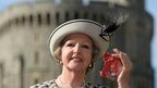 Penelope Keith outside Windsor Castle