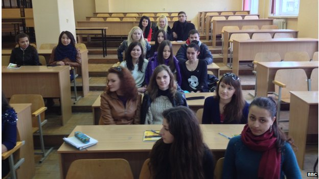 Students at Crimea's technical college in Simferopol