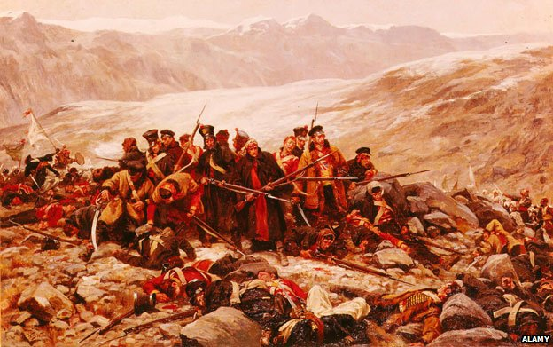 Last stand of the 44th Foot at Gandamak, January 13, 1842