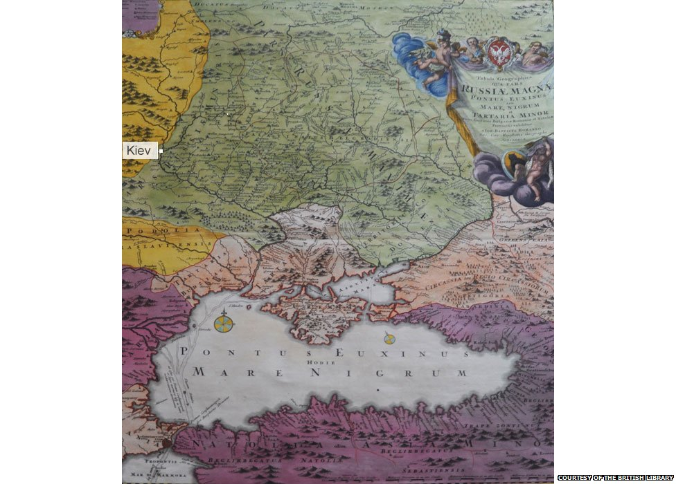 18th century map courtesy of the British Library