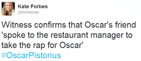 Tweet by the BBC's Kate Forbes