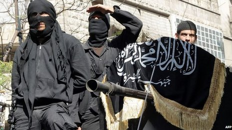 Nusra Front fighters in Aleppo (file image)