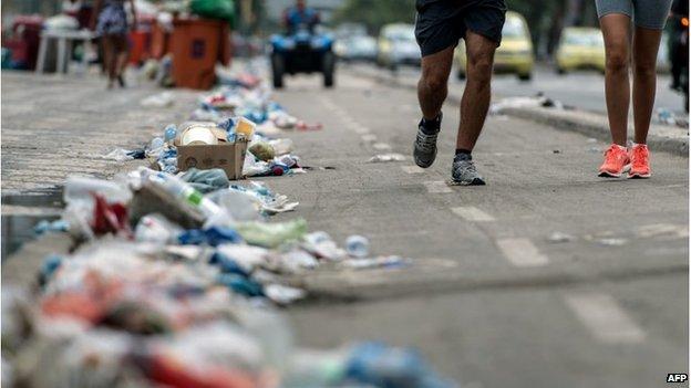 Runners in Rio de Janeiro