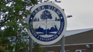 Park View School sign