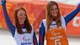 Paralympic silver medallist Jade Etherington and her guide Caroline Powell