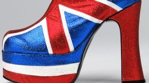 Spice Girl's Union Jack boot