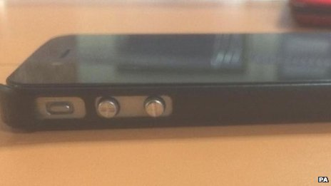 Fake smartphone stun gun seized