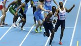 mens 4x400m race at world indoor championships
