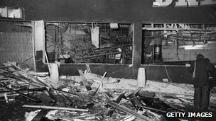 Pub bombings wreckage
