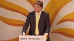 Treasury Chief Secretary Danny Alexander speaking at the Liberal Democrat Spring conference