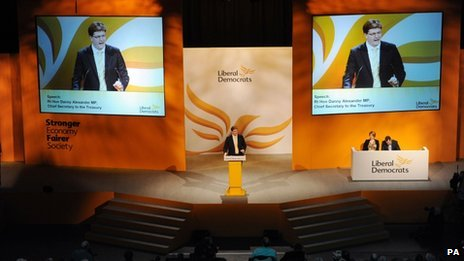 Danny Alexander speaks during the Liberal Democrat Spring Conference