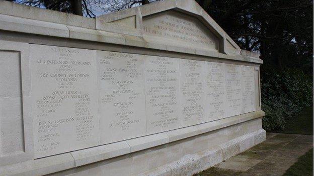1914-1918 memorial at Brookwood