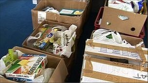 Food bank parcels
