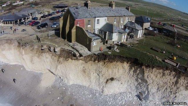 Cliff erosion at Birling Gap